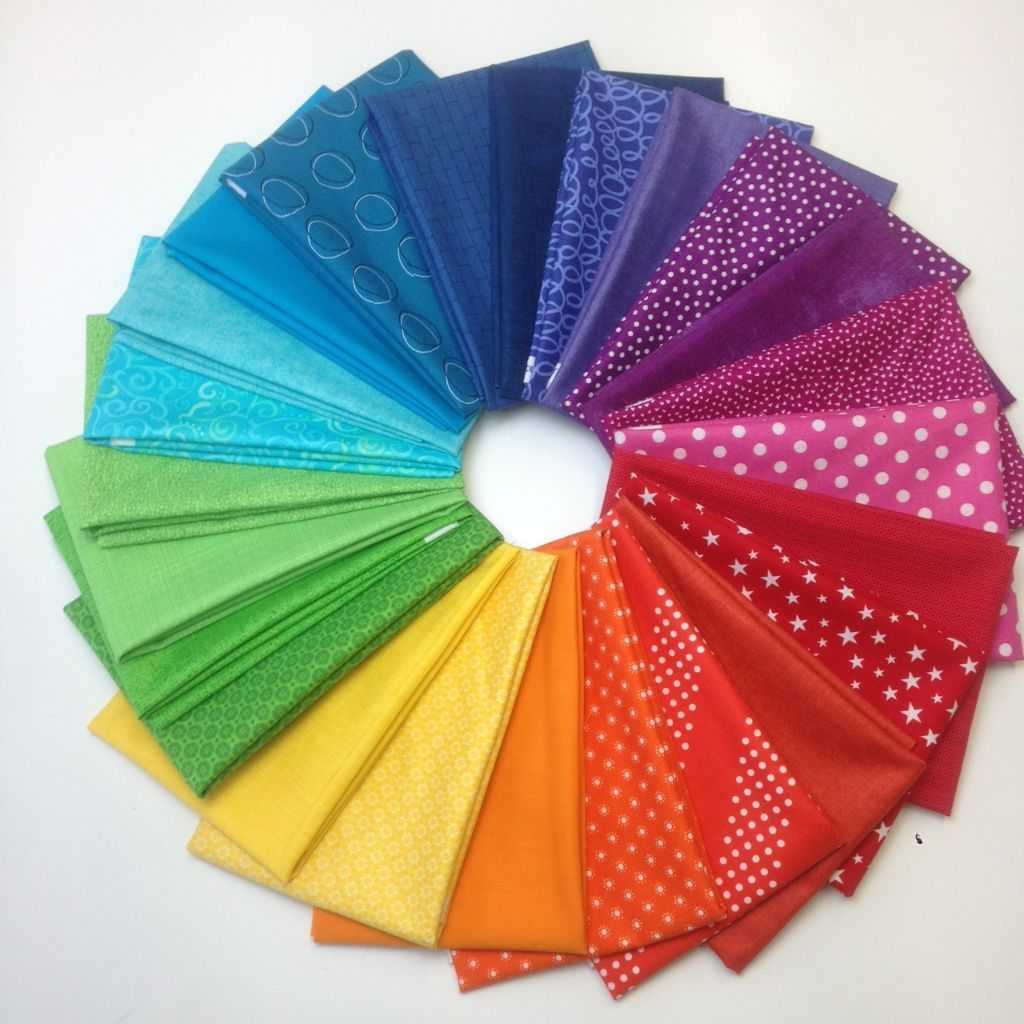 Fat Quarter Pack Regenbogen 24- Version5