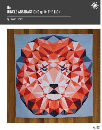 Jungle Abstractions- Lion Quilt