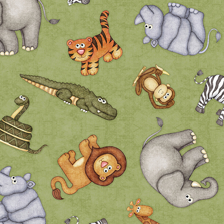 "Stoff ""Jungle Buddies"" Zootiere"