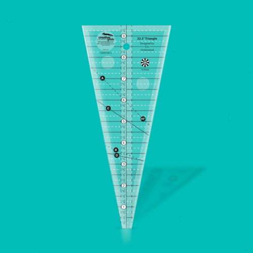 Creative Grids 22,5 Grad Triangle Ruler