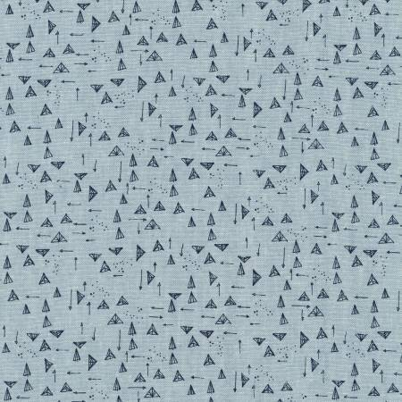 Stoff Forage Chambray Triangles