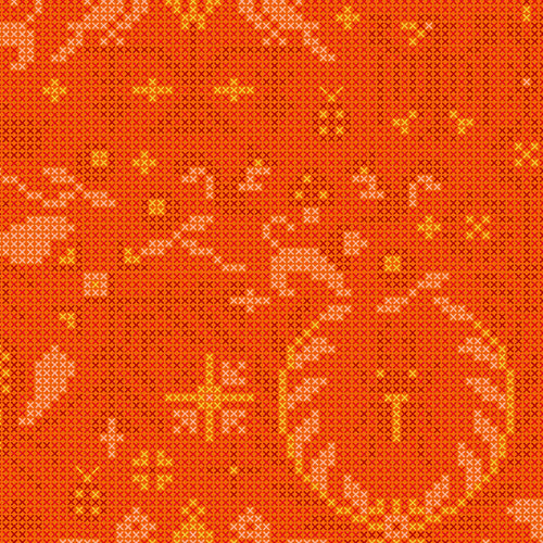 Sunprint 2020 menagerie orange
