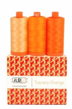 "Aurifil Color Builder ""Tuscany Orange"""