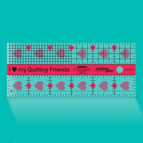 "Creative Grids  2,5 x 6"" quilty friends"